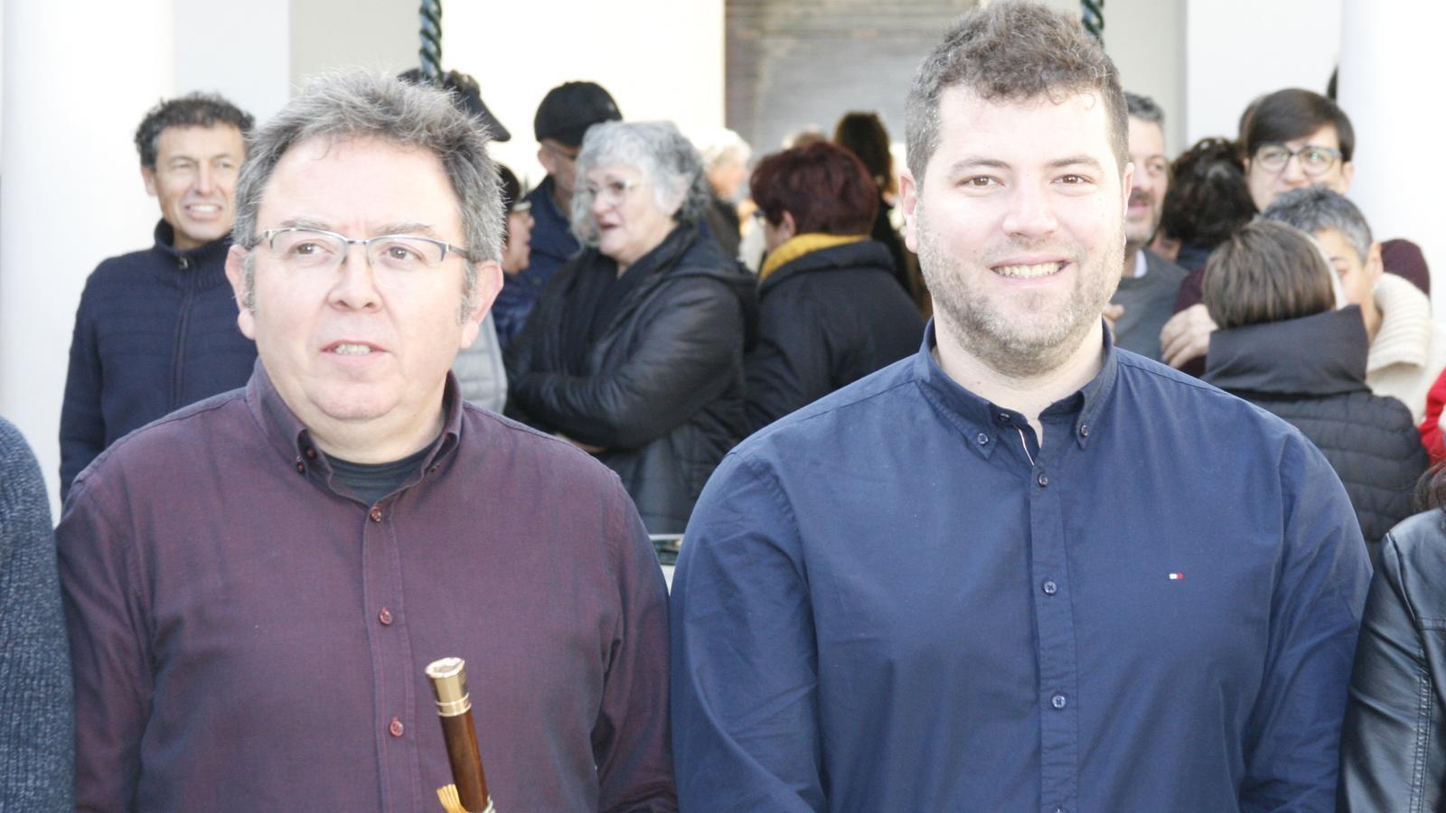 Guillem Jordà (XM) i Biel Mas (El Pi), candidats a compartir la batlia els propers quatre anys.