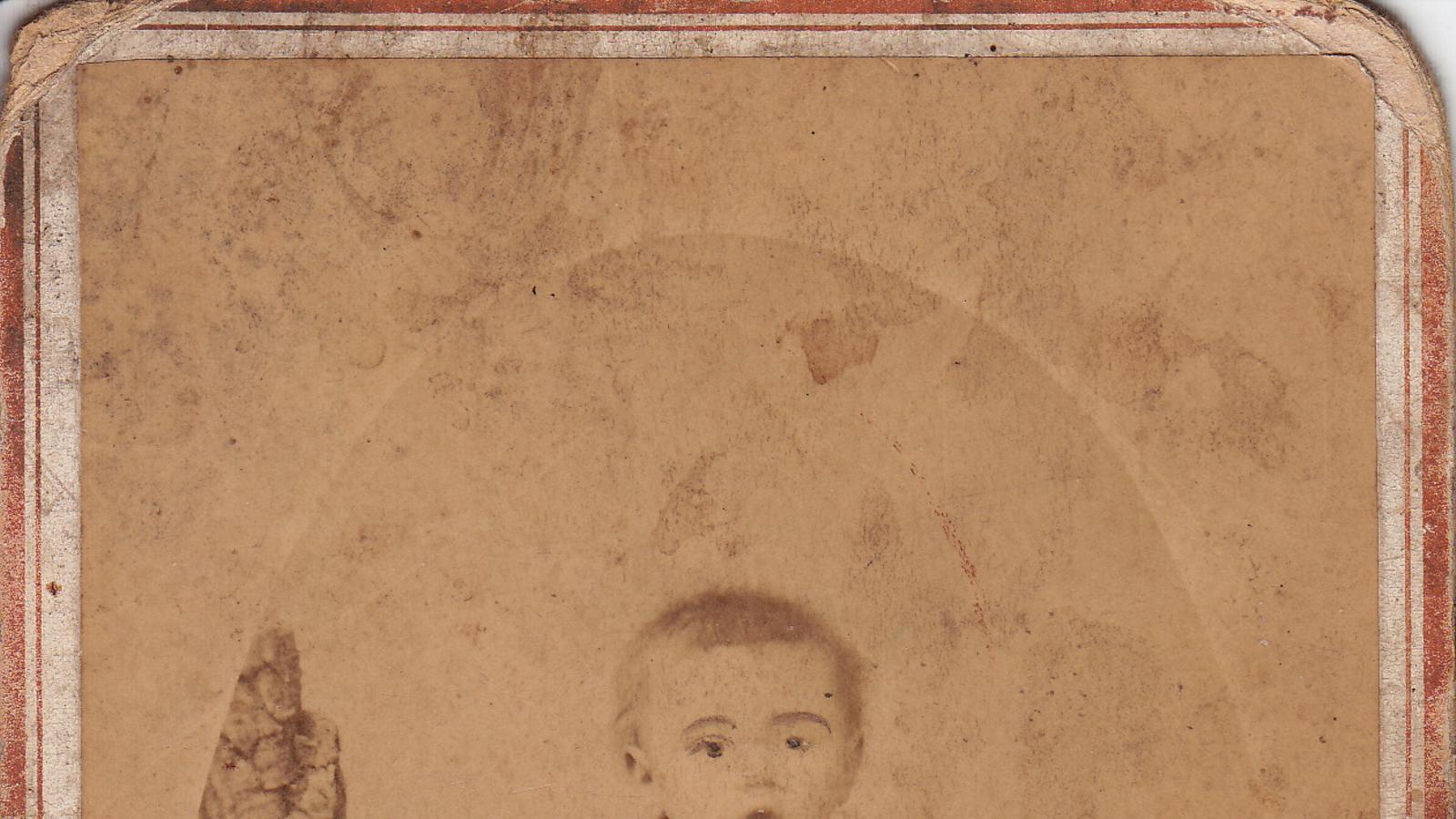 Una imatge del besavi de la Susana, Juan Melià Timoner, quan era un nadó