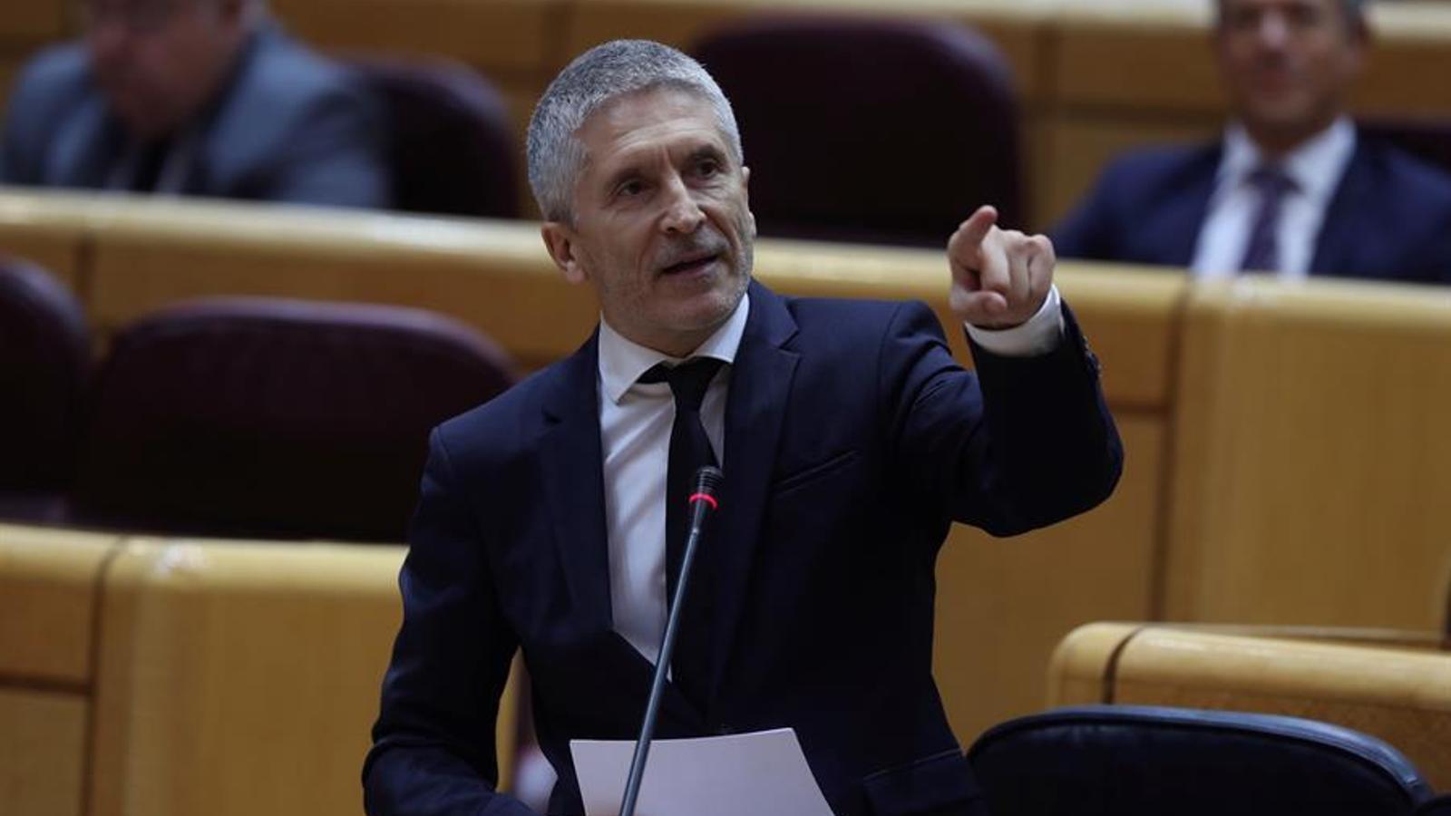 El ministre de l'Interior, Fernando Grande-Marlaska, dimarts al Senat