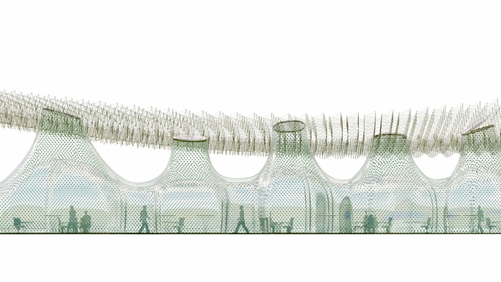 Recreació d'un dels nous edificis de la Fundació El Bulli