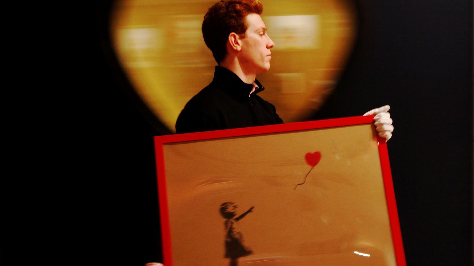 Banksy i l'impacte d'autodestruir una obra de més d'un milió d'euros en una subhasta