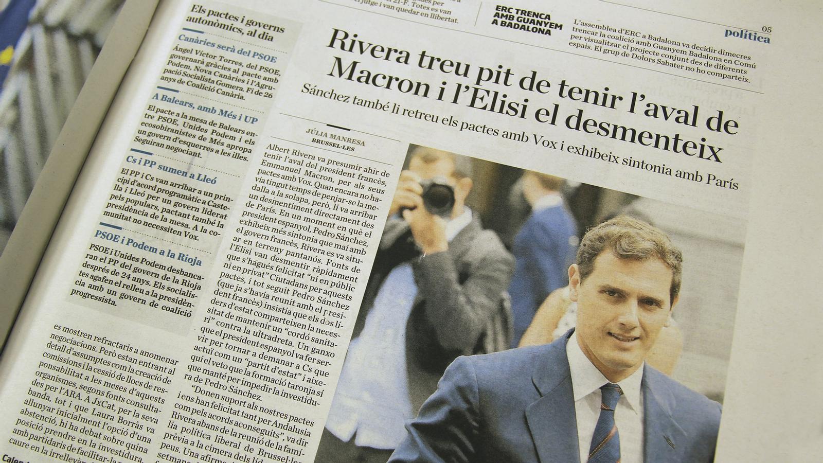 L'anàlisi d'Antoni Bassas: 'Rivera menteix i, en canvi, és notícia'