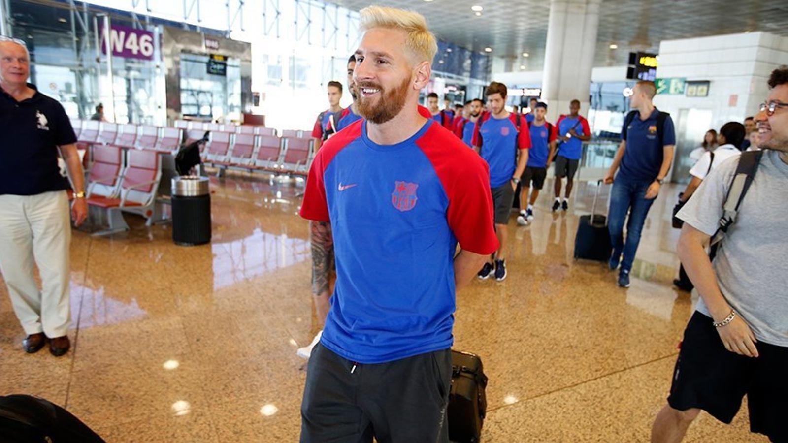 Messi, principal novetat en l'expedició blaugrana a Anglaterra