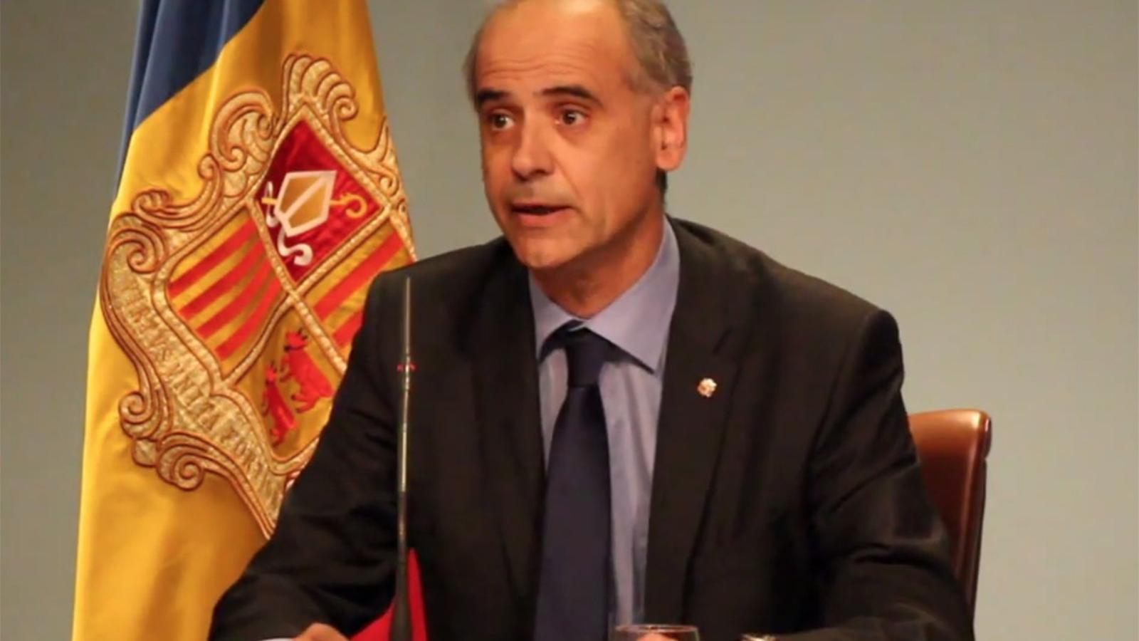 Compareixença del cap de Govern en funcions anunciant la intervenció de BPA