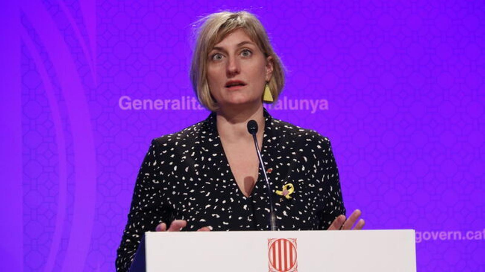 La consellera de Salut, Alba Vergés, en una imatge d'arxiu.