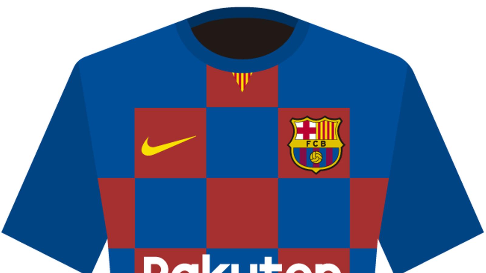 El Barça podria vestir amb una samarreta arlequinada