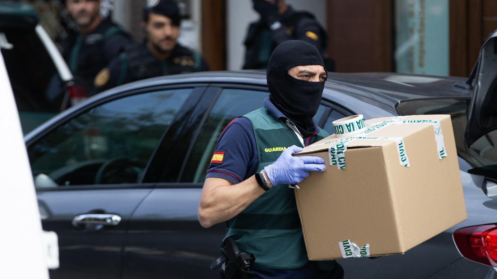 La Guàrdia Civil, en una imatge d'arxiu, del registre del passat 23 de setembre a Sabadell