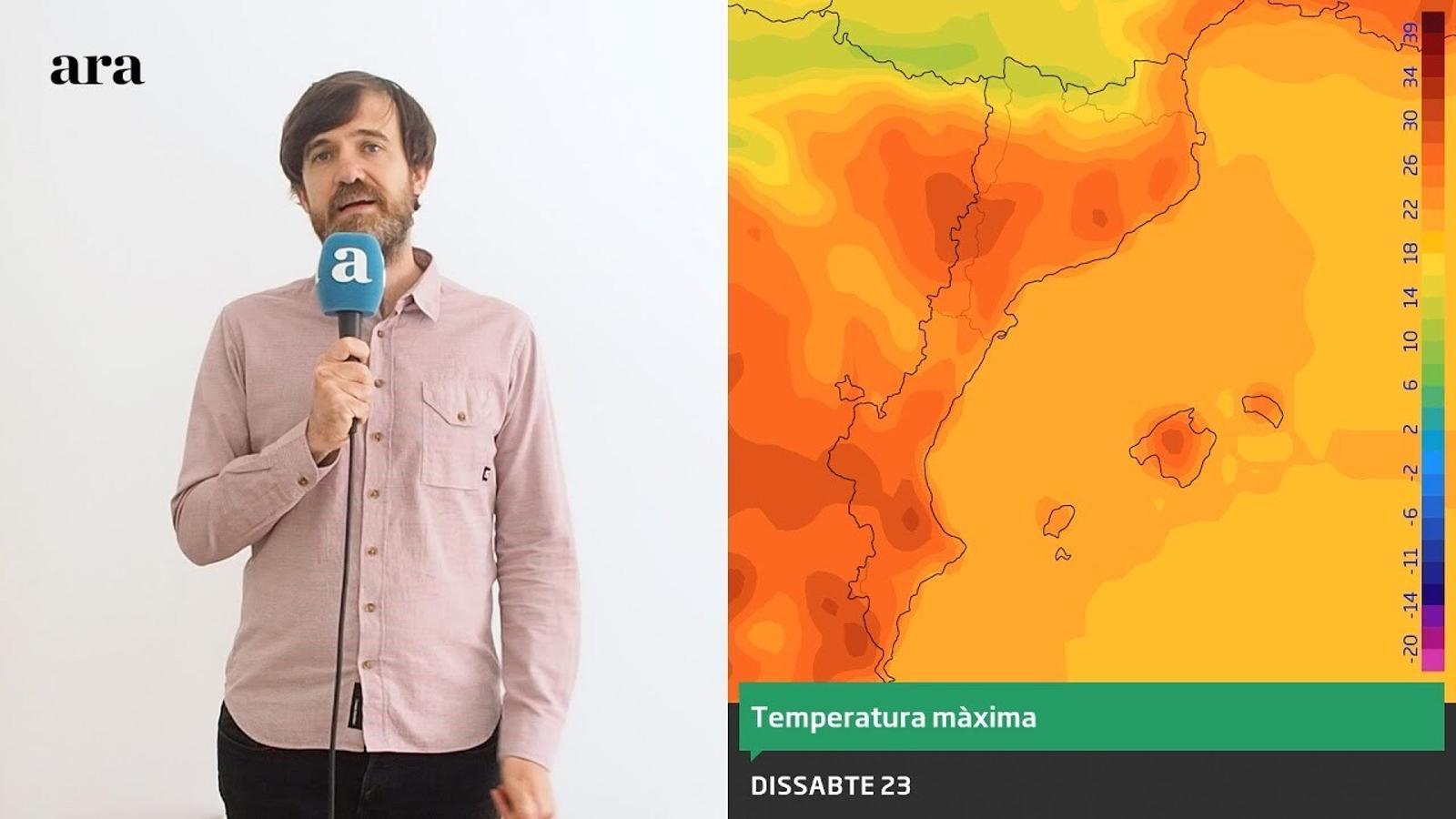 La méteo: cap de setmana amb calor més continguda i alguns ruixats