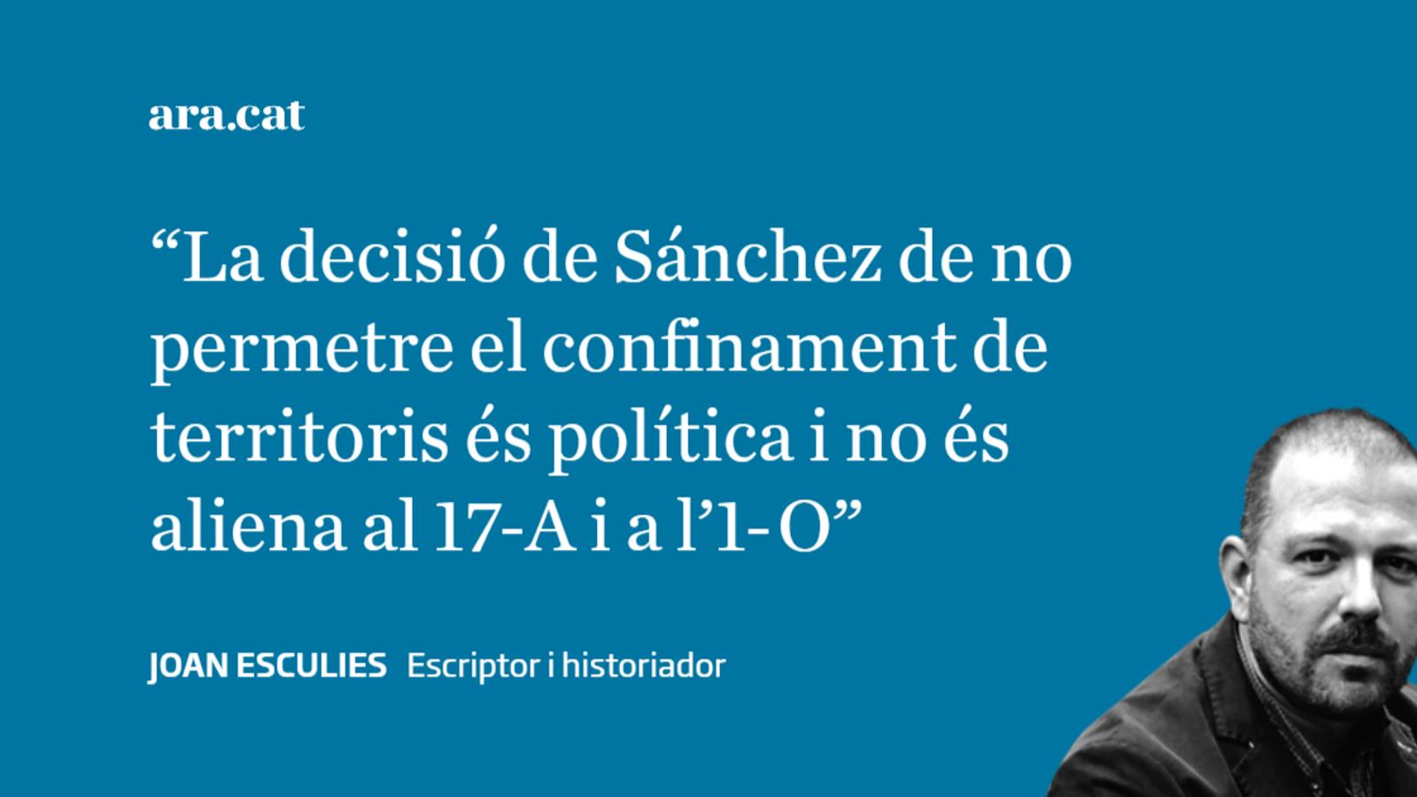 Sánchez i el confinament de Catalunya i Madrid