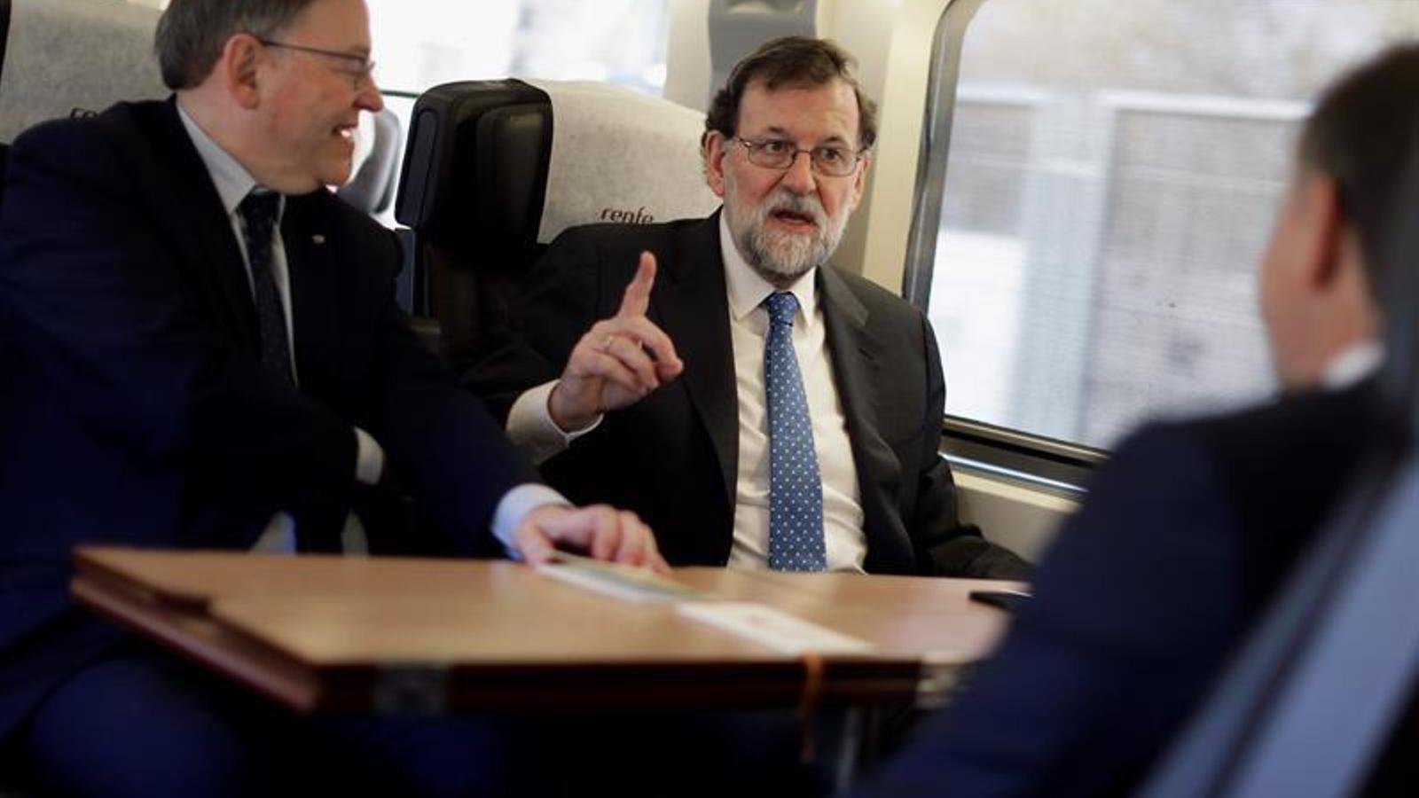 Mariano Rajoy inaugura aquest dilluns l'AVE de Madrid a Castelló, que és més lent que l'Euromed que hi havia fins ara. EFE