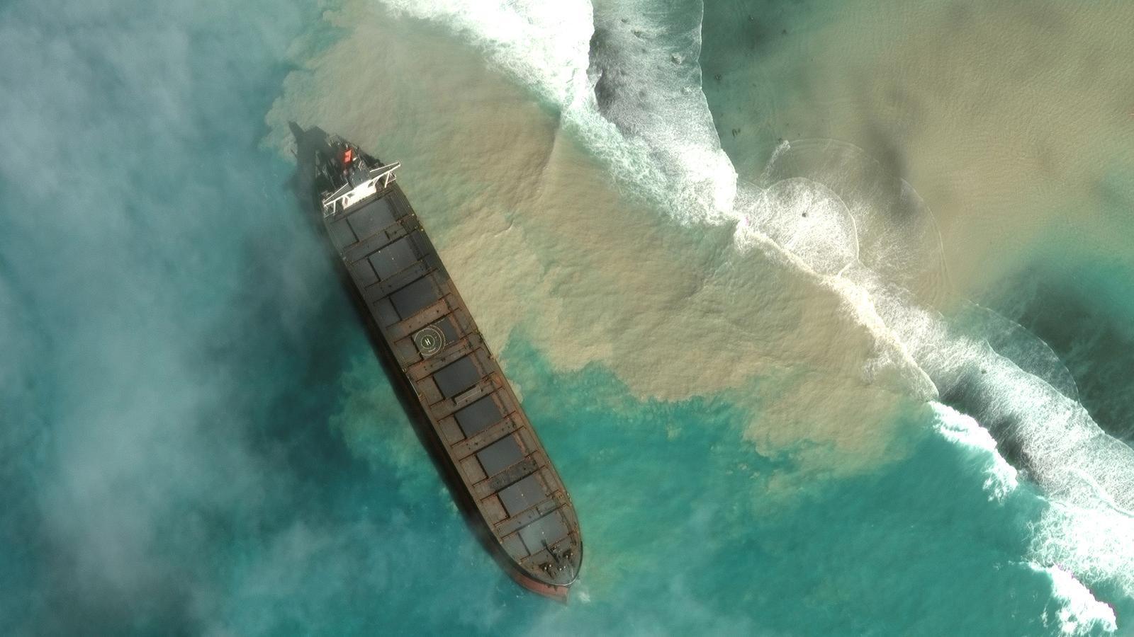 El vaixell, de bandera japonesa, accidentat.