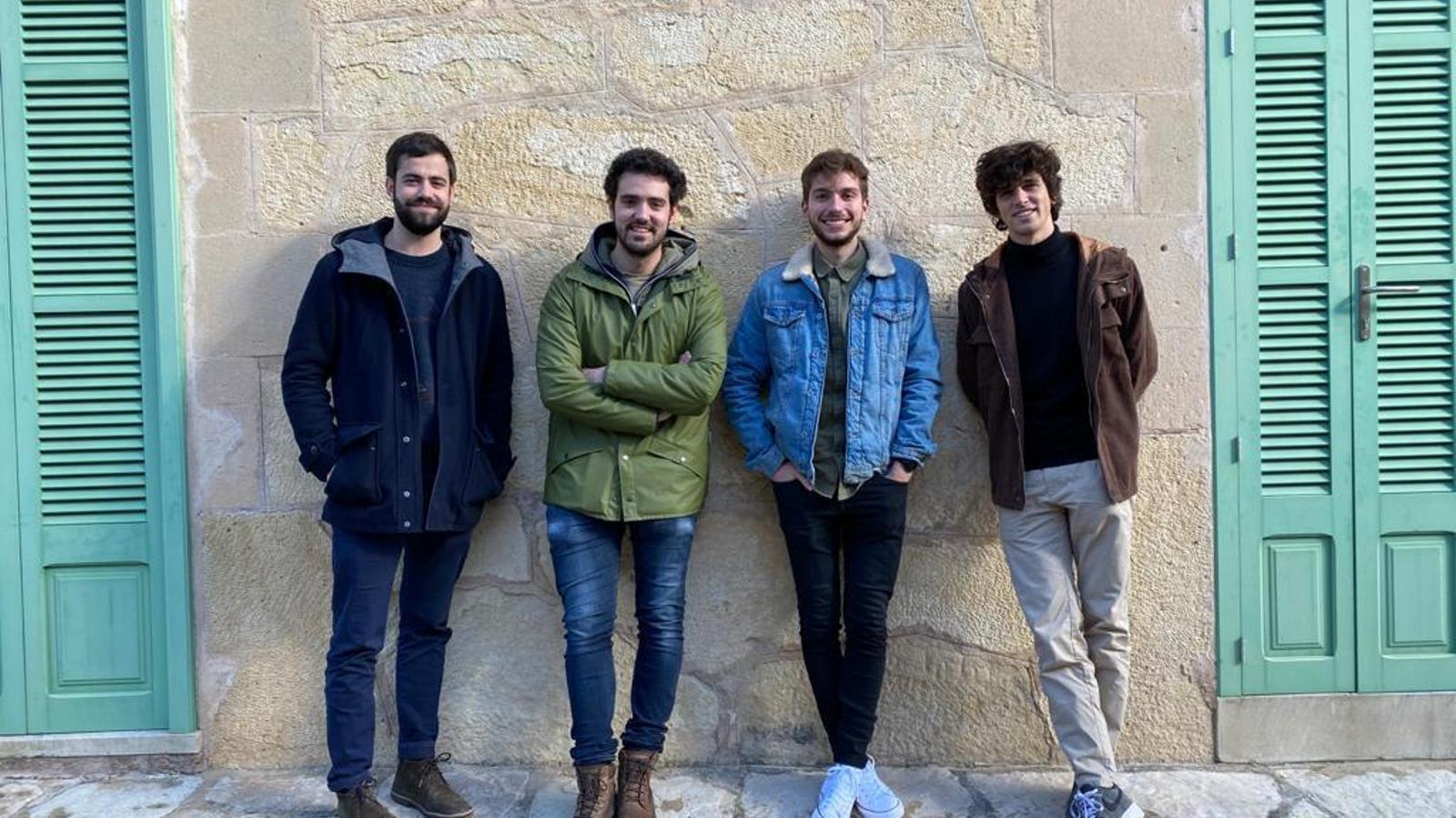 Toni Jaume, Sebastià Alomar, Joan Roig i Guillem Contestí, fundadors de la revista