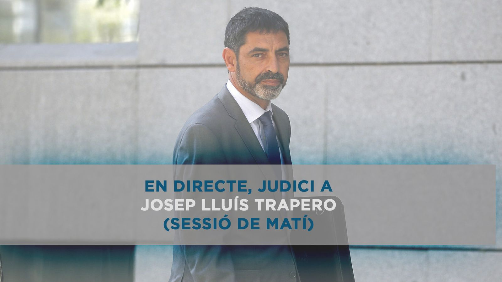 Judici a Trapero a l'Audiència Nacional (sessió de matí)