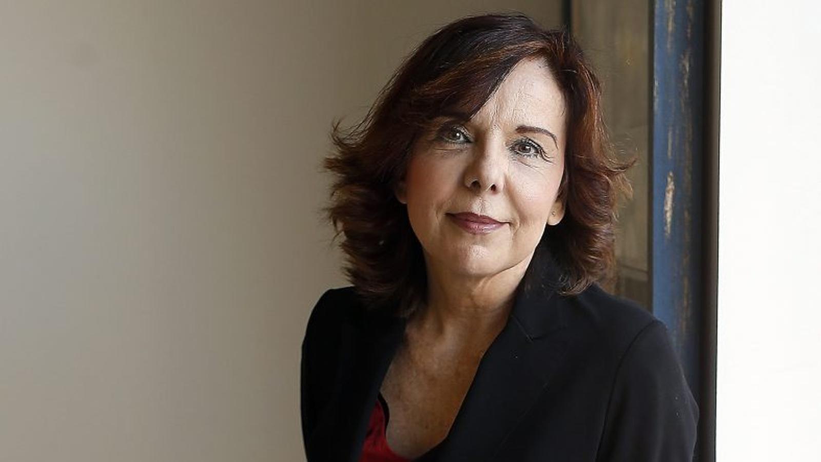 La presidenta del Consell de Transparència i Bon Govern,  Esther Arizmendi, al seu despatx.