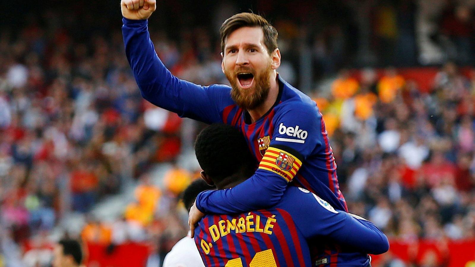 Un Messi en estat de gràcia abans d'enfrontar-se al Madrid