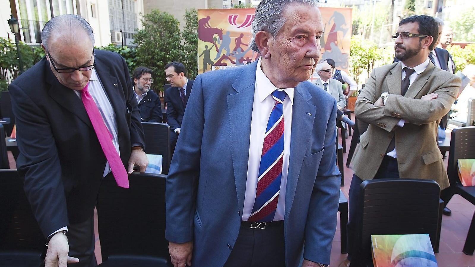 David Moner, president d'honor de la Unió de Federacions Esportives de Catalunya, en una imatge de l'any 2013.