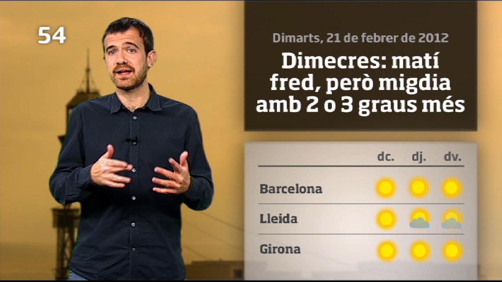 La méteo en 1 minut: s'enfilen els termòmetres (22/02/2012)
