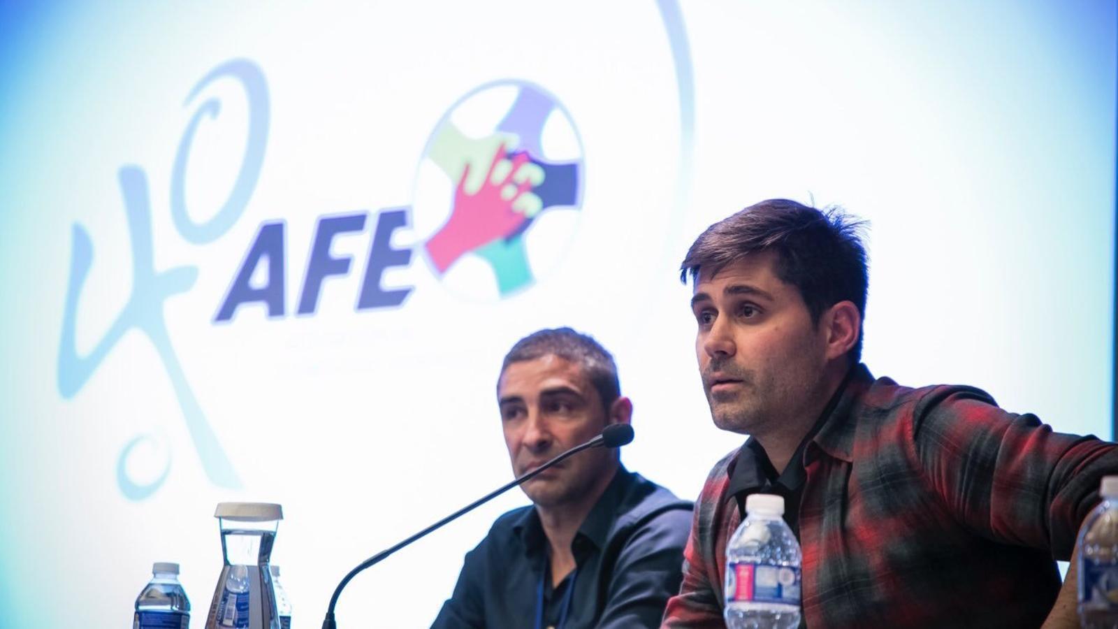 David Aganzo durant una conferència de l'AFE