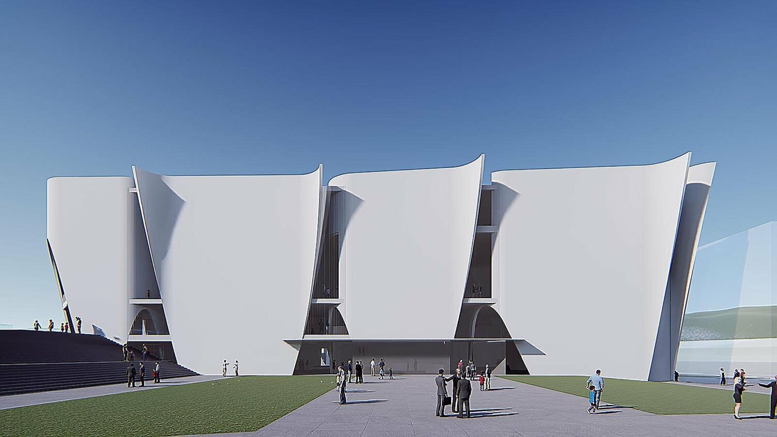 Recreació del projecte de l'arquitecte japonès Toyo Ito per a l'Hermitage de Barcelona / HERMITAGE DE BARCELONA