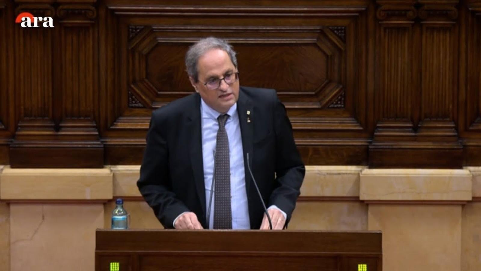 """Torra: """"Les properes eleccions han de ser el plebiscit de la ratificació de l'1-O"""""""