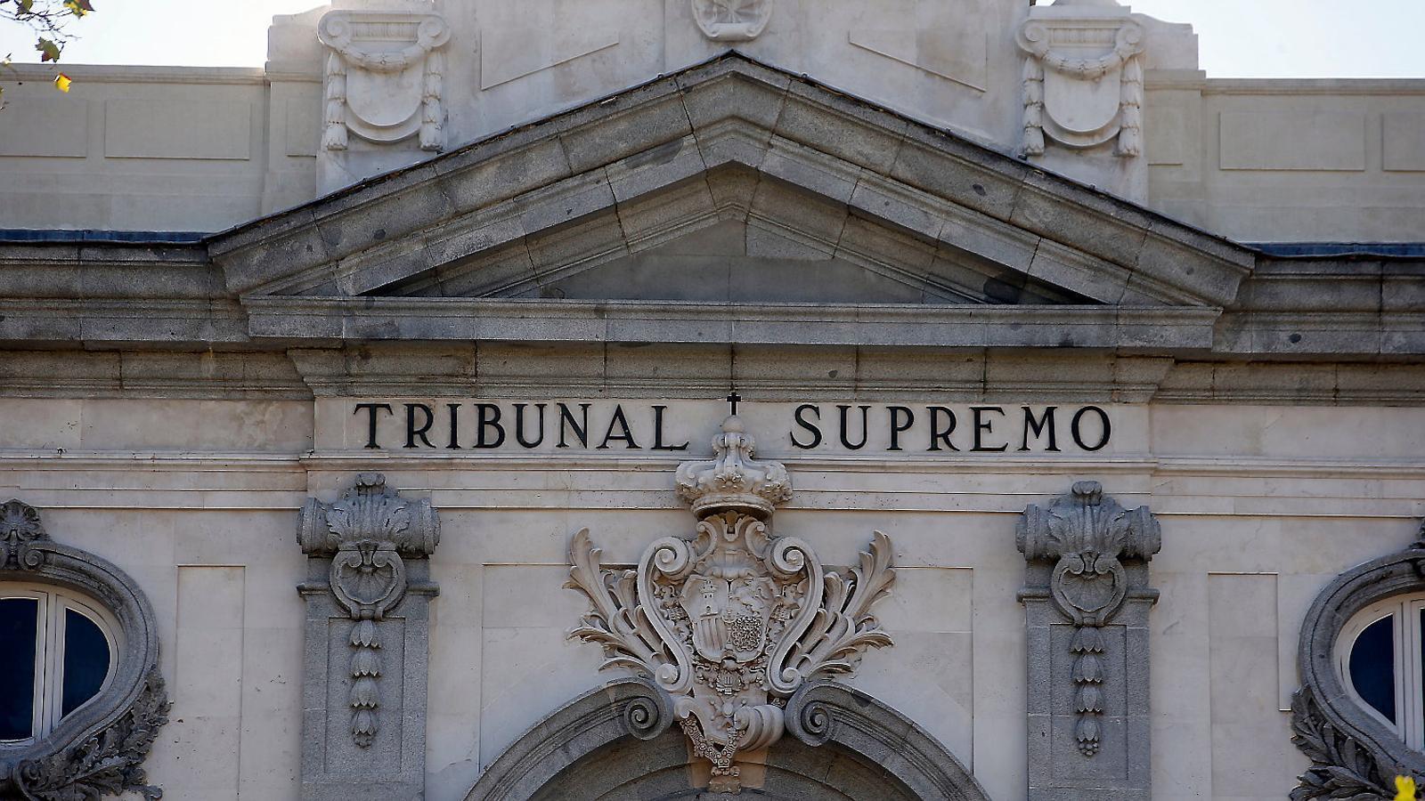 Imatge de la façana del Tribunal Suprem.