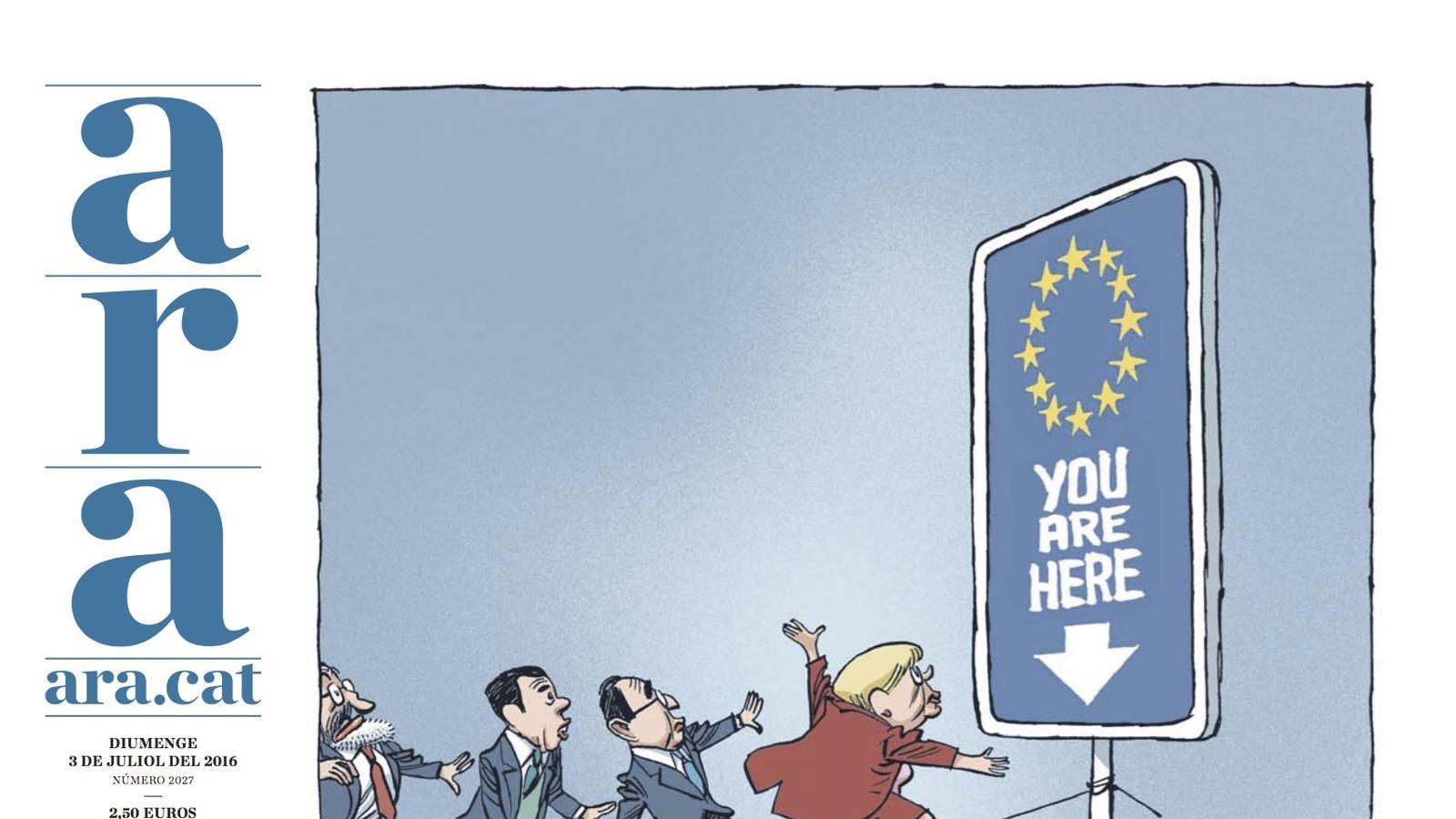 """""""Europa, on vas?"""", portada de l'ARA especial de demà"""