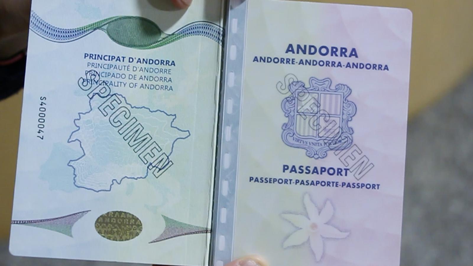 Un passaport andorrà. / M. M.
