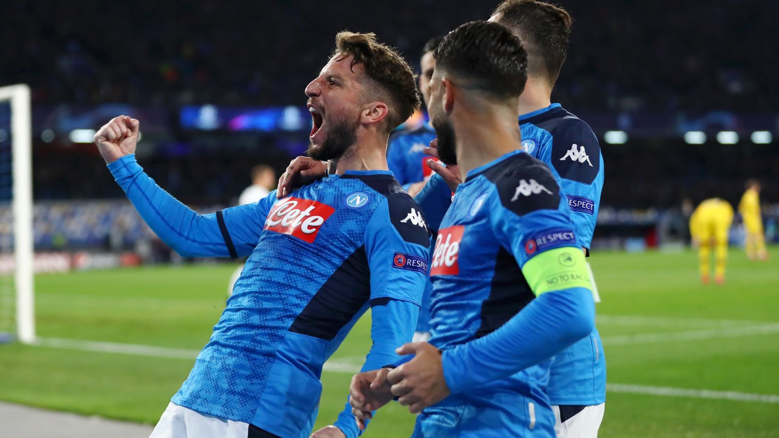 Mertens celebra el seu gol a San Paolo
