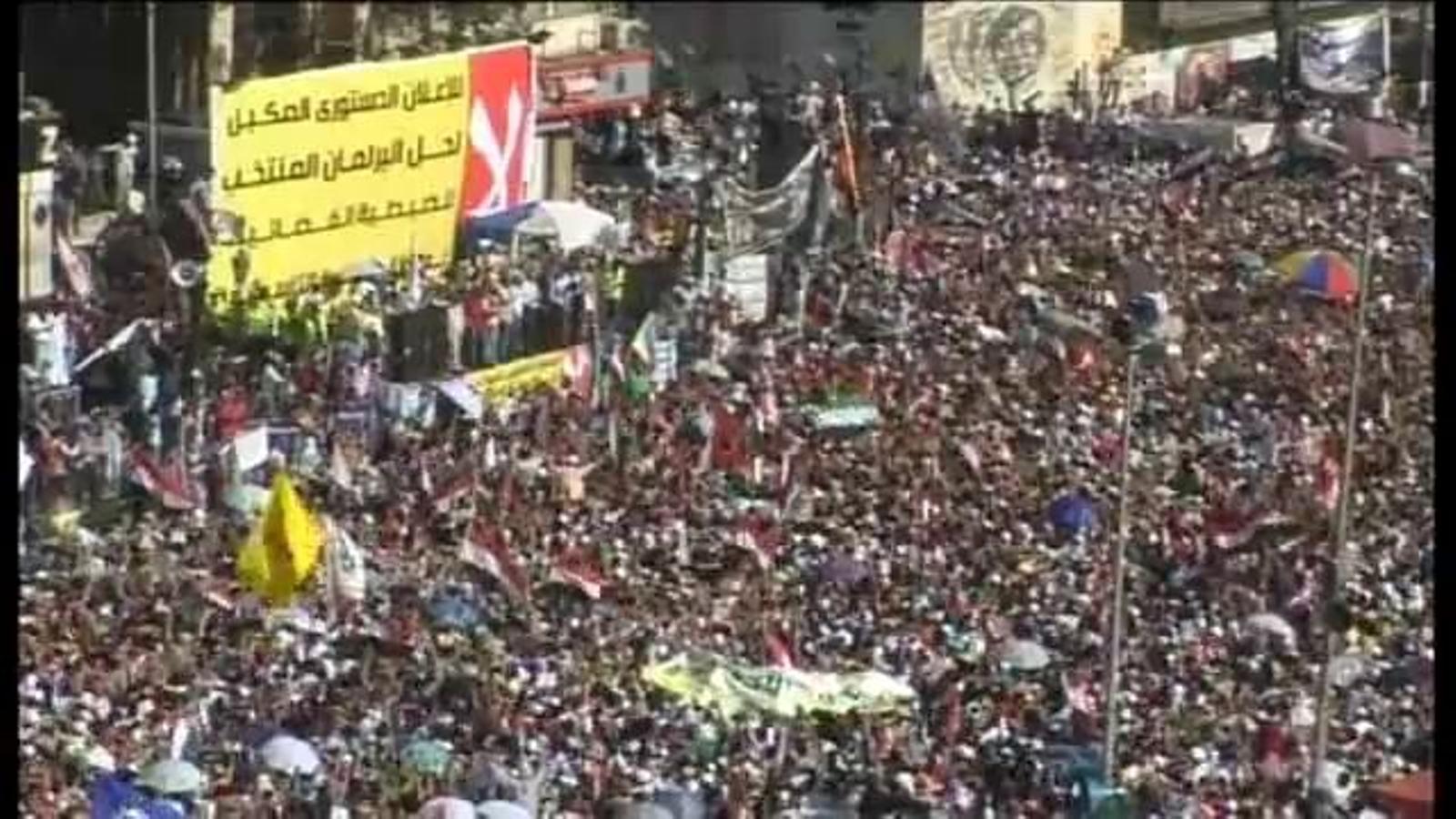 La plaça Tahrir esclata de joia en saber-se la derrota del candidat oficialista