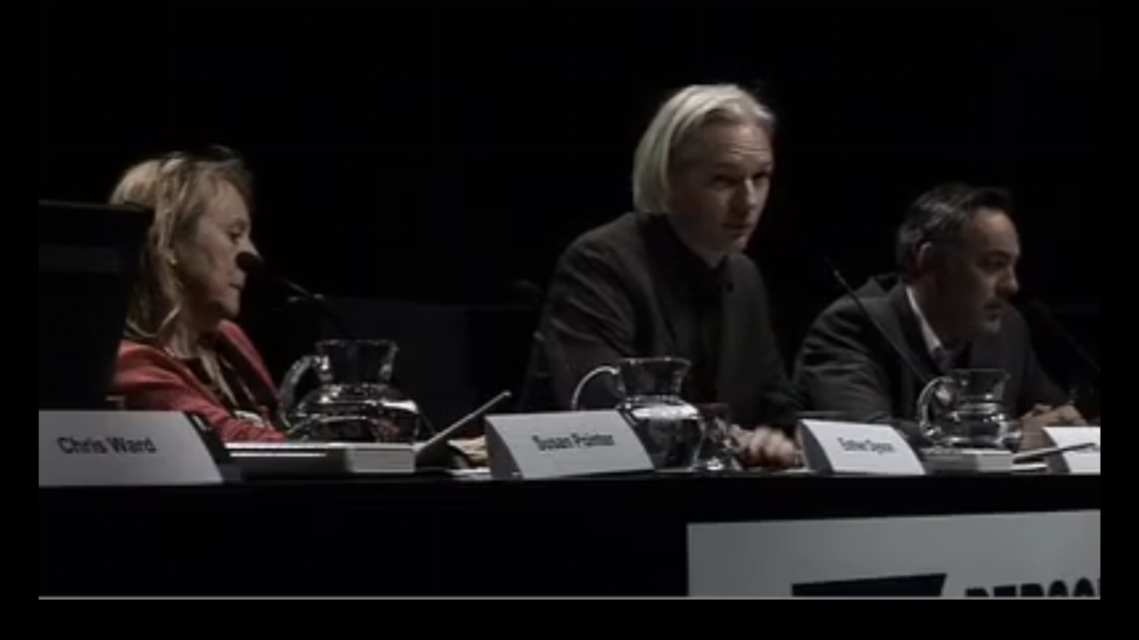 La visita d'Assange a Barcelona
