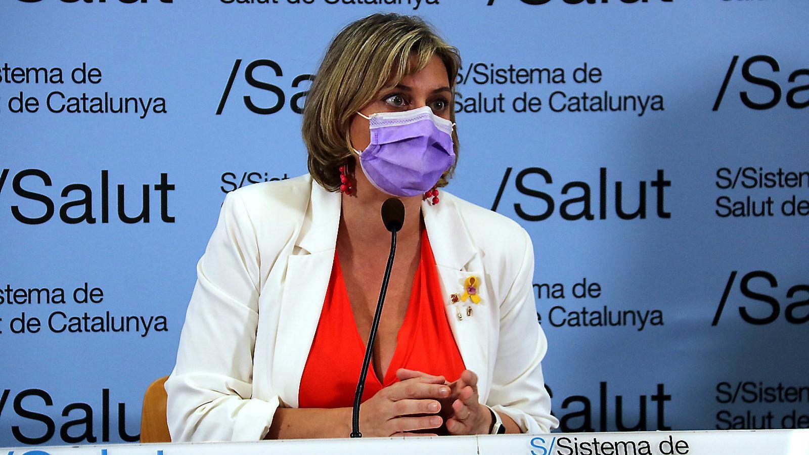 La consellera de Salut, Alba Vergés, durant una roda de premsa sobre el covid-19.