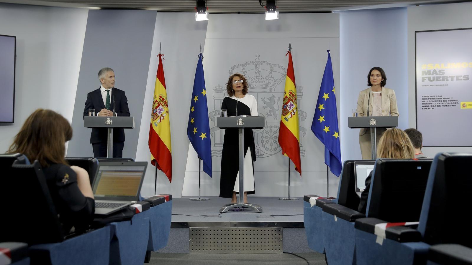 Roda premsa posterior a la reunió del consell de Ministres a la Moncloa