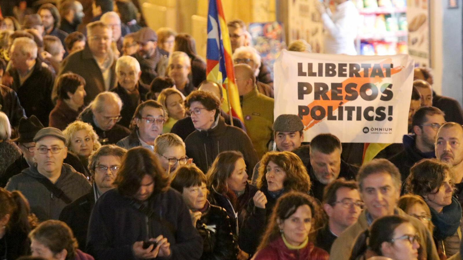 La manifestació per l'autodeterminació en el marc de la Diada de Mallorca 2018
