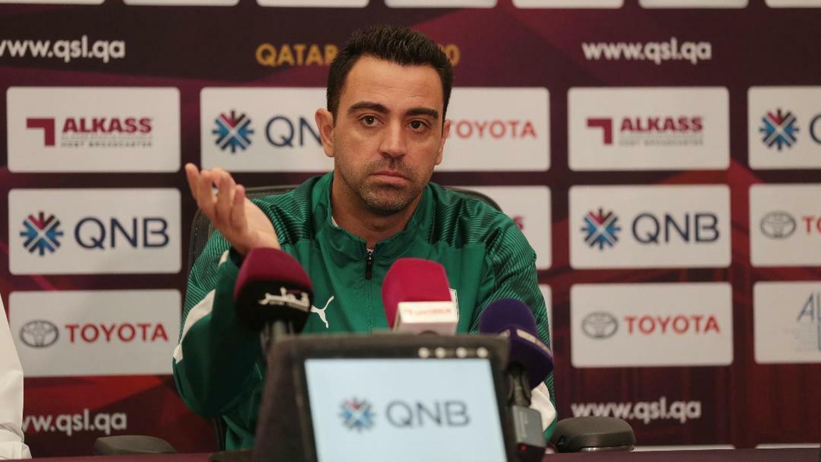 Xavi Hernández, durant la roda de premsa prèvia a la final de la Copa del Qatar