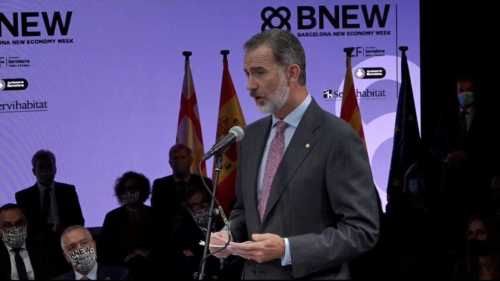 """Felip VI: """"Treballem junts per mantenir la imatge internacional de la competitivitat i excel·lència productiva"""""""