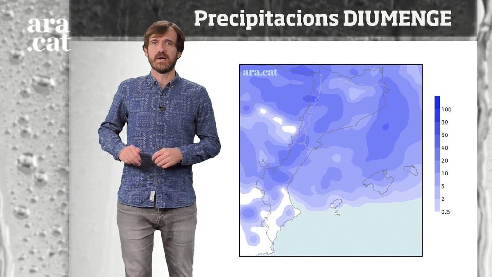 La méteo en 1 minut: nova tongada de pluges de cara a diumenge