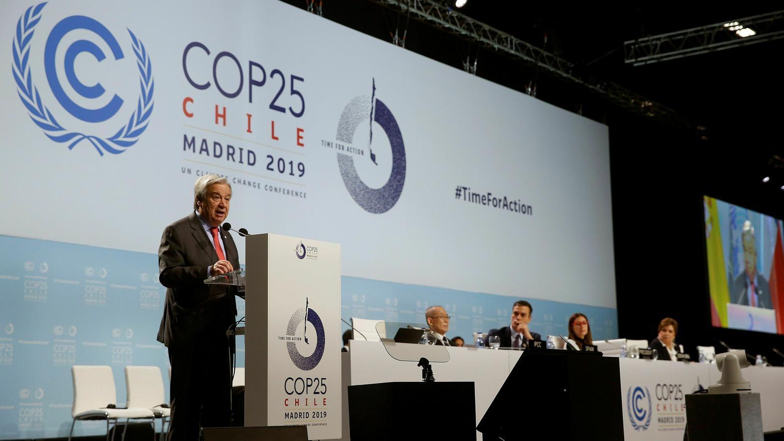 """Arrenca la COP25 amb una nova crida a la """"urgència"""" per retallar les emissions"""