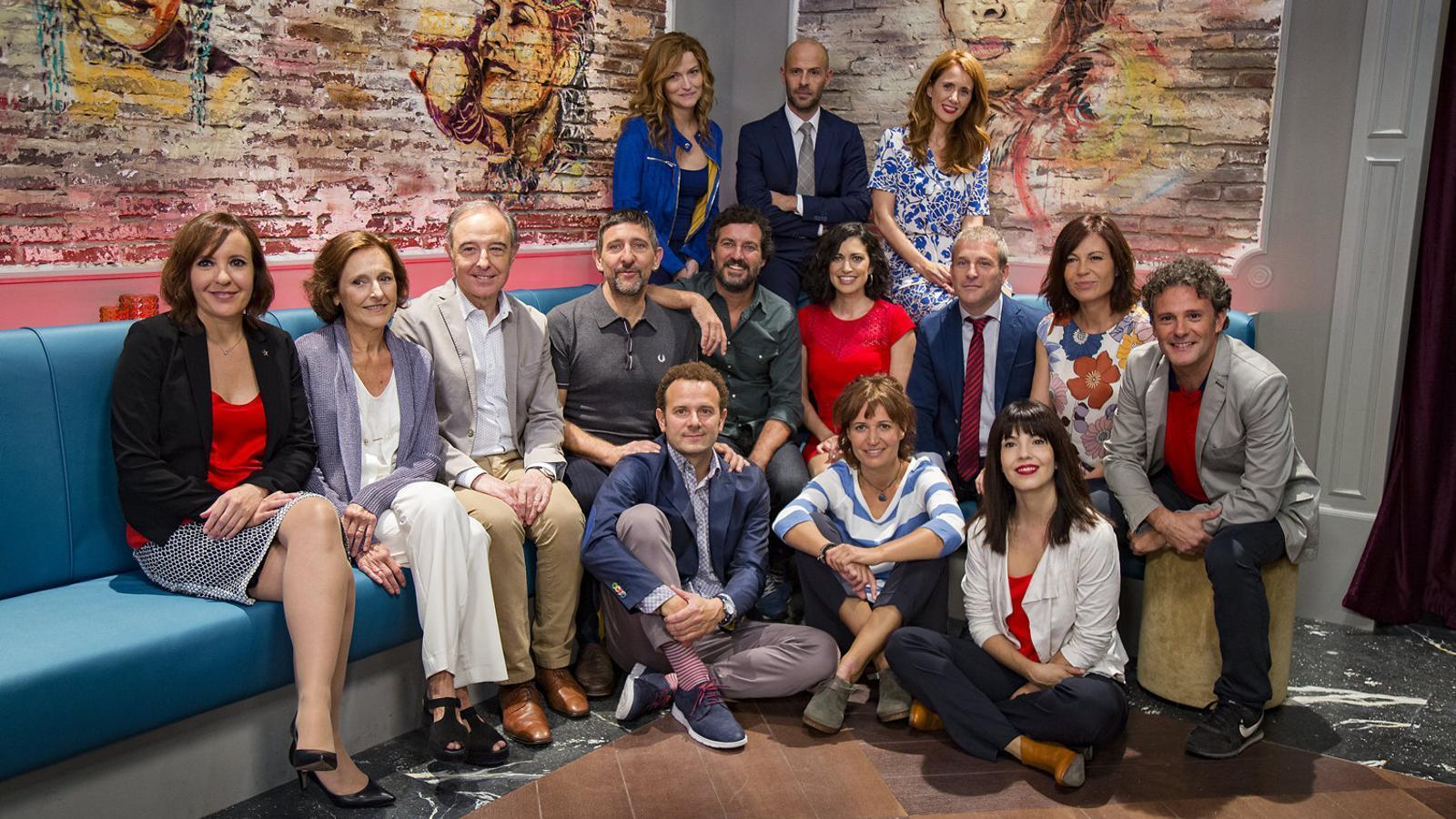 Els actors protagonistes de Com si fos ahir, la sèrie  de sobretaula que TV3  va estrenar  al setembre.