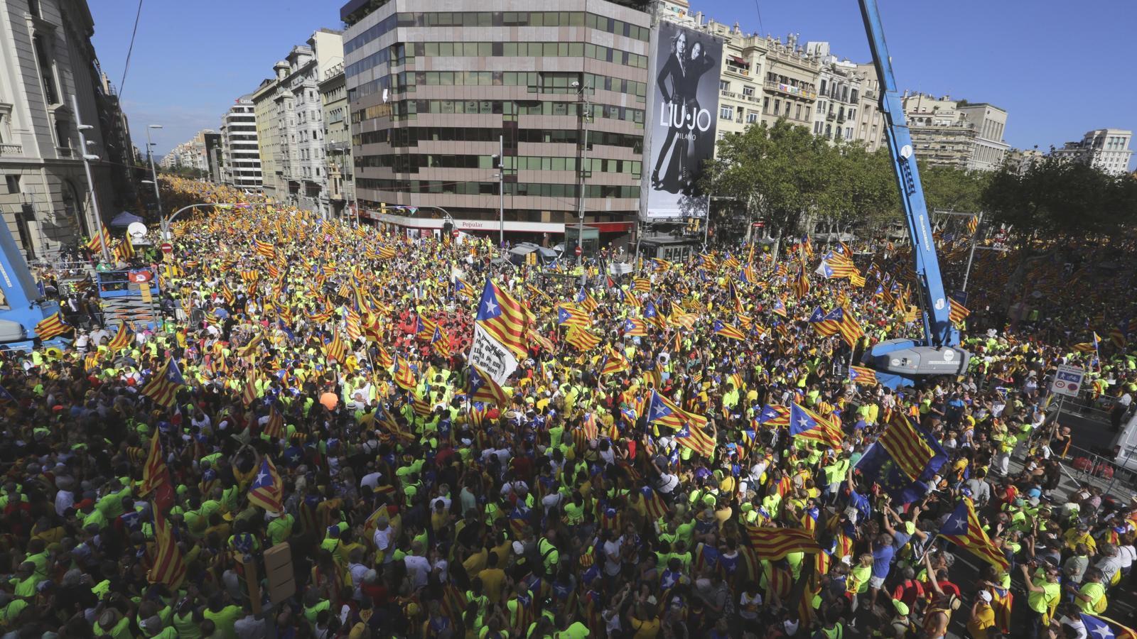 """Parlem amb els manifestants: """"Que sigui l'última Diada de demanar, la propera ha de ser de celebrar"""""""