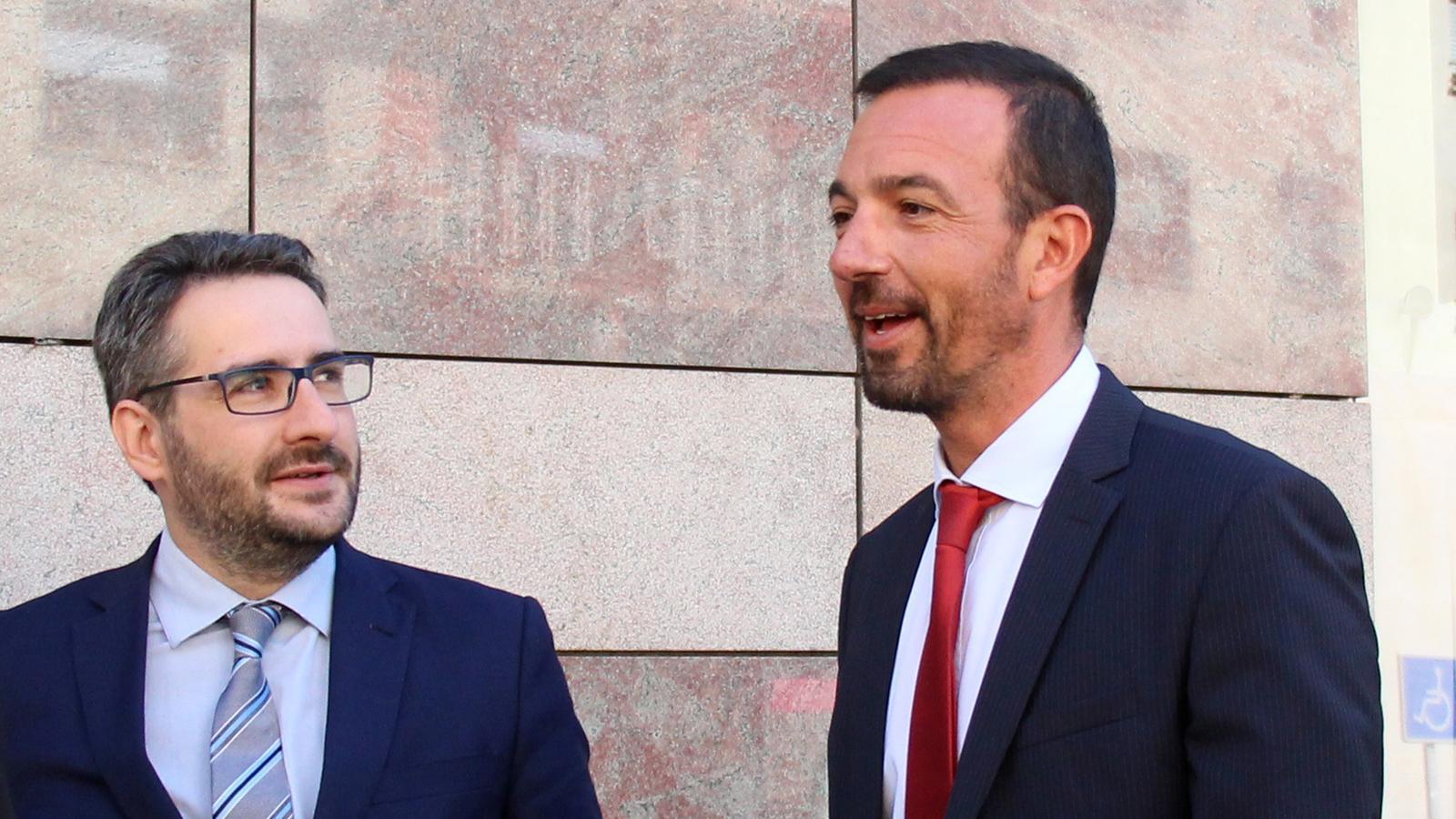 El ministre d'Ordenament Territorial, Jordi Torres, durant la inauguració del camí escolar d'Escaldes. / C.G. (ANA)
