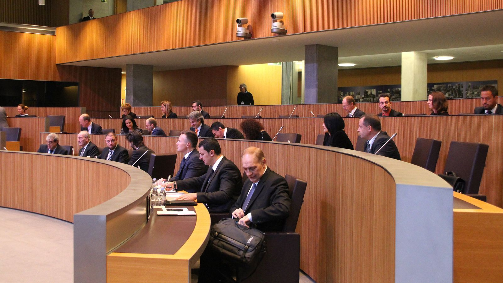 Una imatge dels consellers generals aquest dijous al matí. / M. F.