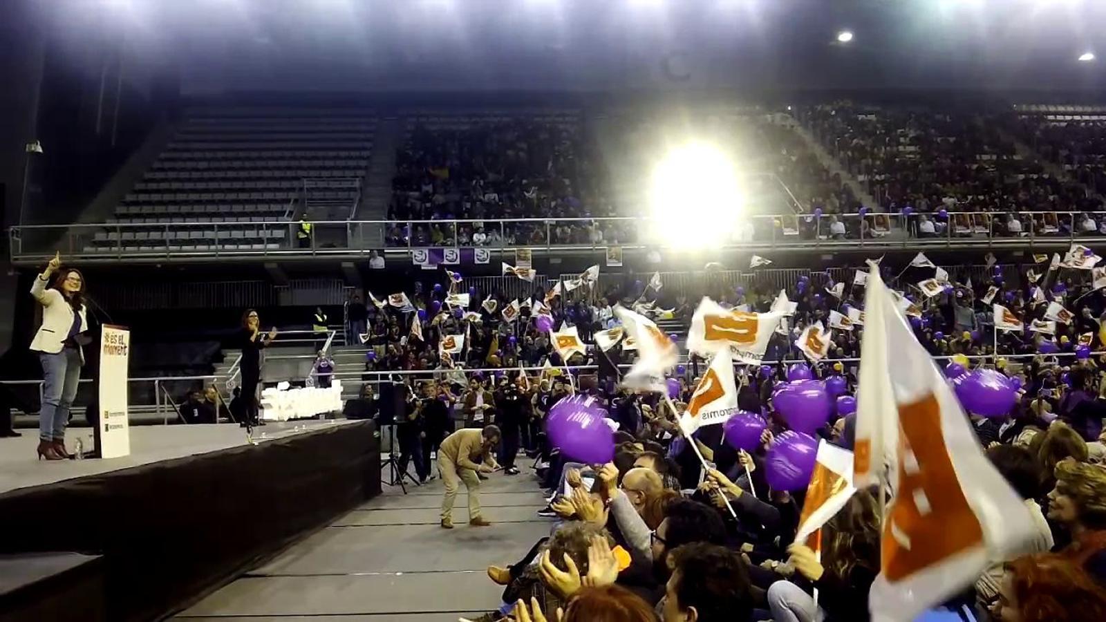Mònica Oltra al míting d'És el moment a Alacant
