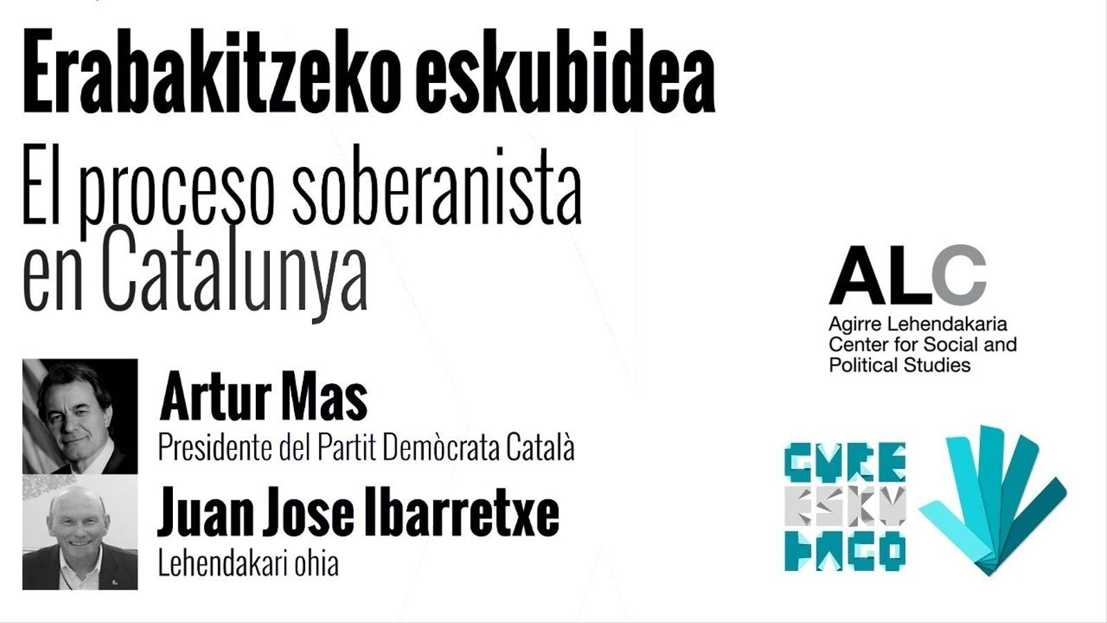 Artur Mas i Juan José Ibarretxe, en directe