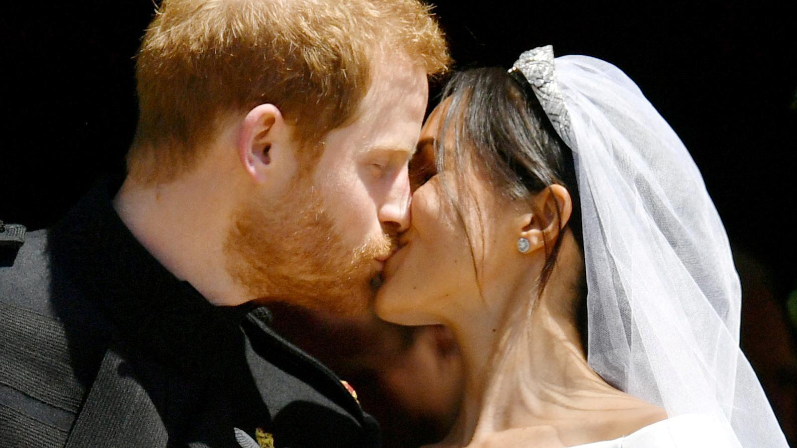 Els ducs de Sussex el dia del seu casament.