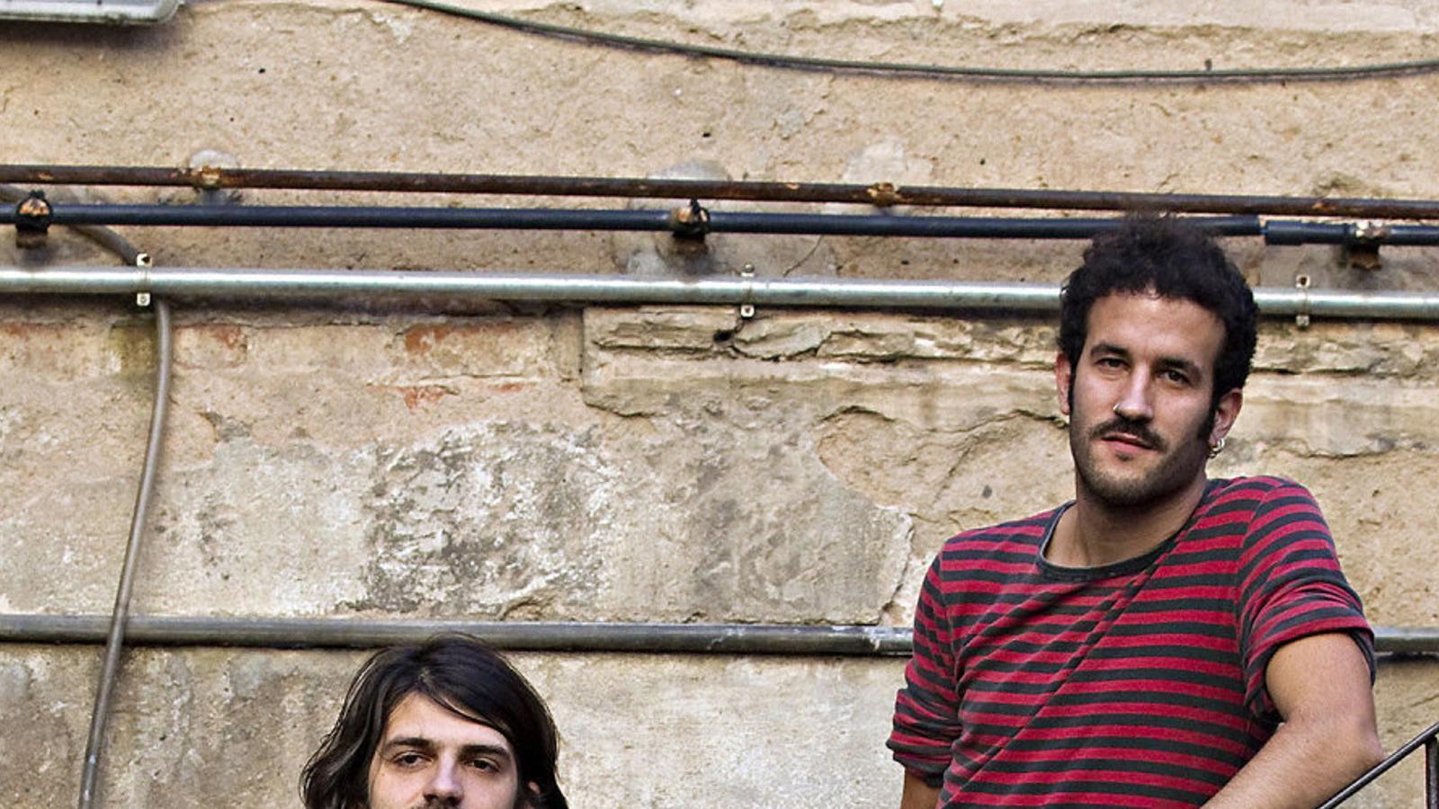 Èric Vergés i Jan Riera són amics des dels 5 anys i membres del grup Els Catarres
