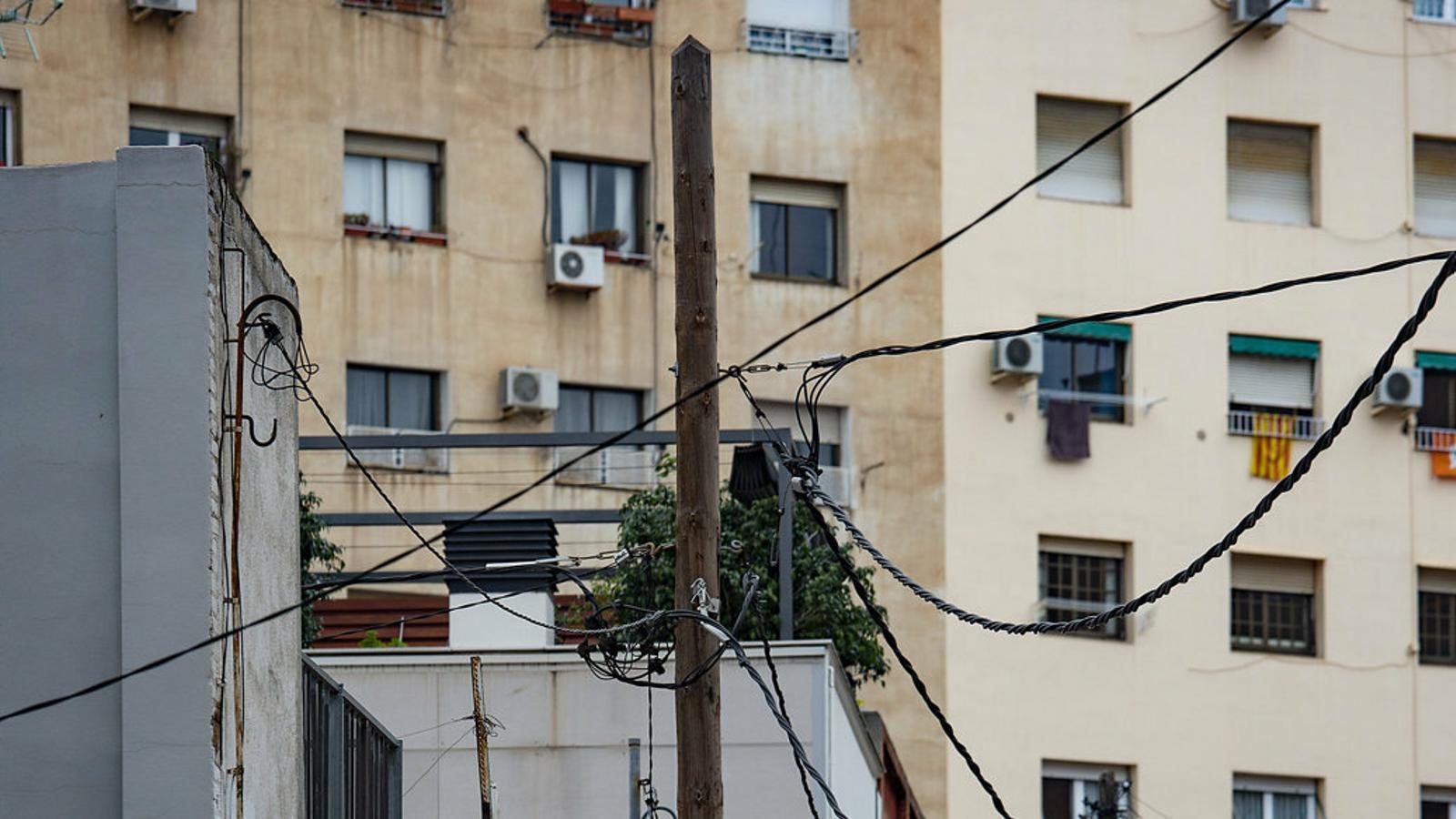 Passatge de l'Encarnació al barri del Guinardó de Barcelona, on encara es conserven petits nuclis de l'antiga barriada rural.