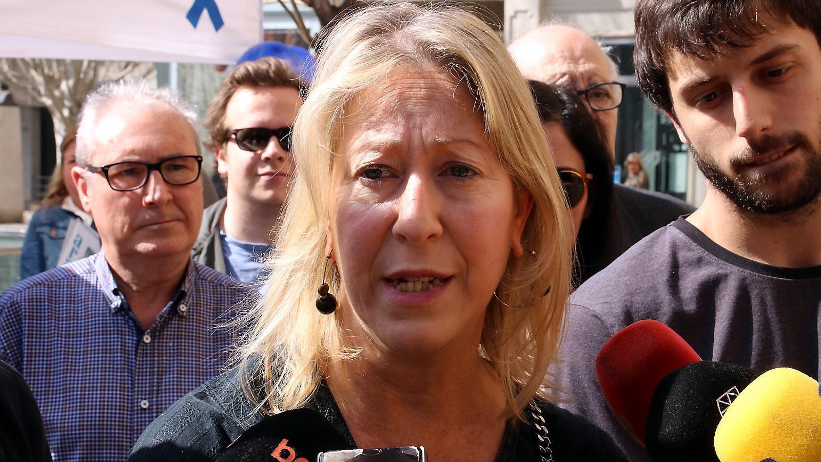 La candidata a les primàries del PDECat a Barcelona, Neus Munté, ahir a Barcelona.