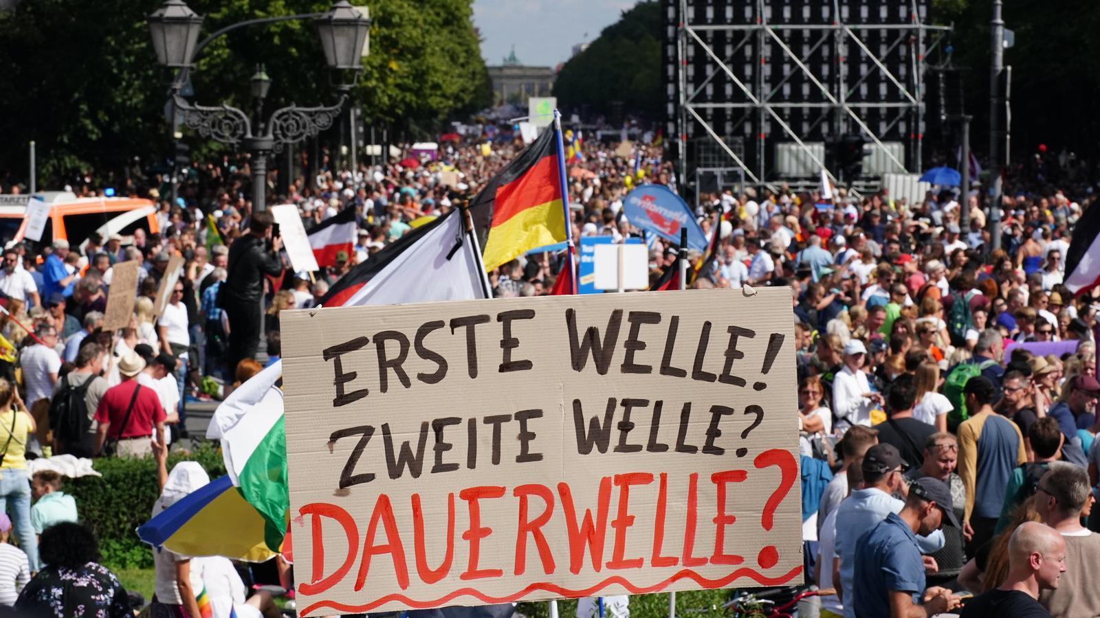 La manifestació negacionista del covid-19 d'aquest dissabte a Berlín