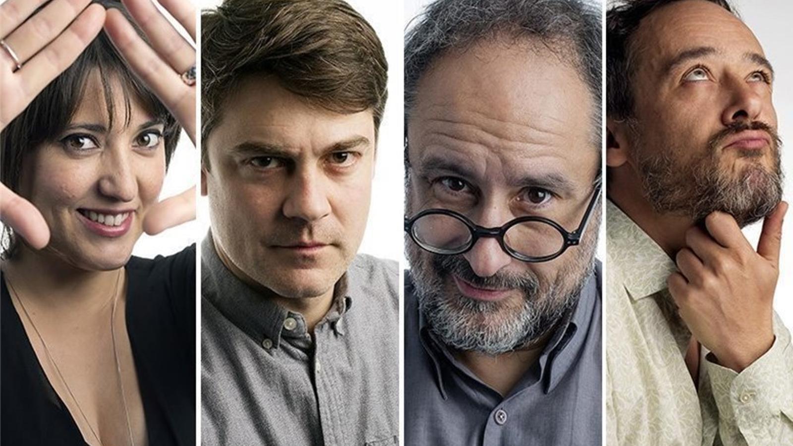 Alguns dels col·laboradors del nou 'Play': Estel Solé, Roger Coma, Antonio Baños i Santi Balmes.