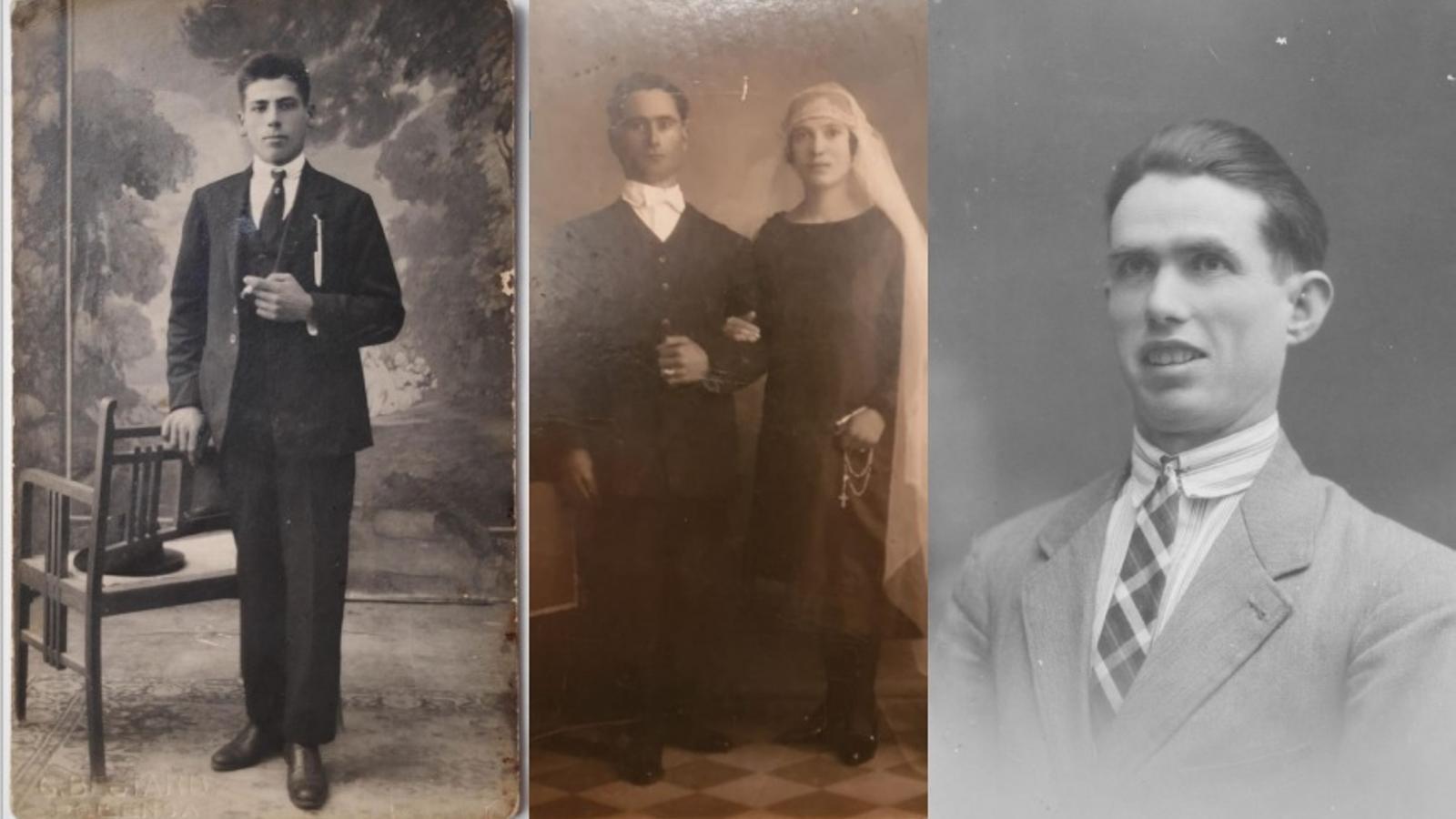 Antoni Castañer, Macià Salvà i Miquel Martorell, tres de les víctimes identificades, en fotografies cedides per les respectives famílies./ CAIB